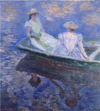 Young Girls in a Row Boat