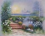 Garden Oil Painting 005