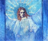 HalfFigure of an Angel (after Rembrandt)