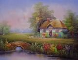 Garden Oil Painting 016