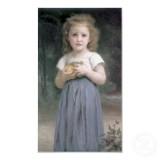 Little Girl Holding Apples in Her Hands (Petite fille tenant des pommes dans les mains)