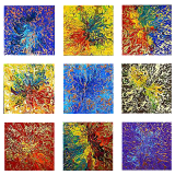 Designer  Multipanel Oil Painting 104
