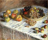 Still Life with Grapes and Apples