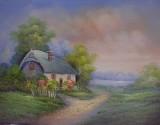 Garden Oil Painting 021