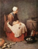 Girl Peeling Vegetables (The Kitchen Maid)