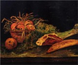 Still Life with Apples, Meat and a Roll