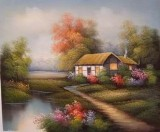 Garden Oil Painting 025