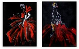 Fashion Collection 002: set of 2 - 30x40 inches each
