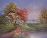 Garden Oil Painting 014