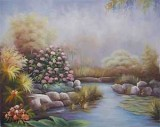 Garden Oil Painting 001