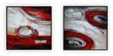 Abstract Collection Vol.3 - 72 - Set of two: 40x40, 30x40