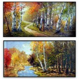 Canadian Landscapes 079: set of 2 - 24x48 inches each,