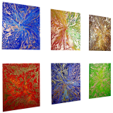 Designer  Multipanel Oil Painting 112