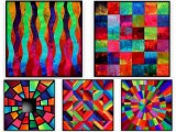"Abstracts Vol 1 - 035: Set of 5 | Each 30"" x 30"""