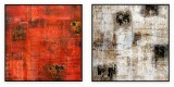 "Abstracts Vol 1 - 179: Set of 2 - 40"" x 40 "" each"