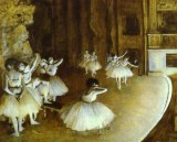 Ballet Rehearsal on Stage