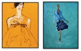 Fashion Collection 004: set of 2 - 30x40 inches each