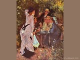 The Bower-In the Garden (Under the Trees at the Moulin de la Galette)