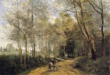 Horseman at the Entrance of the Forest