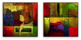 "Abstracts Vol 1 - 009: Set of 2 - 40"" x 40 "" each"