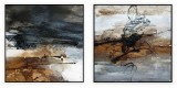 "Abstracts Vol 1 - 173: Set of 2 - 40"" x 40 "" each"