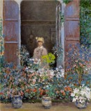 Camille Monet at the Window, Argenteuil