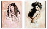 Fashion Collection 033: set of 2 - 30x40 inches each