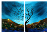 Buytopia-Reduced Multipanel Oil Painting 207