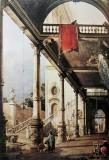 Capriccio: A Colonnade opening on to The Courtyard of a Palcace