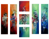 Designer  Multipanel Oil Painting G295