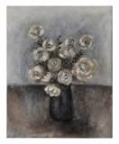 Midnight Bouquet II: 30 x 24 inches