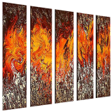 Designer  Multipanel Oil Painting 247