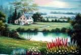 Garden Oil Painting 023