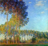 Poplars on the Banks of the River Epte, Seen from the Marsh