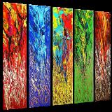 Designer  Multipanel Oil Painting G246