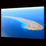 Coral Island in Ocean