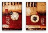 "Abstracts Vol 1 - 008: Set of 2 - 24"" x 36 "" each,"
