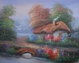 Garden Oil Painting 015