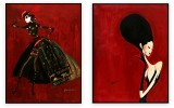 Fashion Collection 006: set of 2 - 30x40 inches each