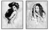 Fashion Collection 032: set of 2 - 30x40 inches each