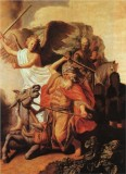 The Ass of Balaam Balking before the Angel
