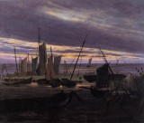 Boats In The Harbour At Evening.jpg