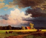 Bavarian Landscape (Red Barn)