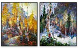 Canadian Landscapes 076: set of 2 - 30x40 inches each