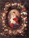 The Virgin and Child in a Garland of Flowers and Putti