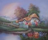 Garden Oil Painting 012