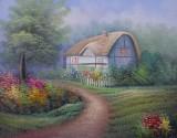 Garden Oil Painting 009