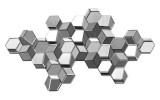 Manhattan 3D Cube Sculpture: 48 x 25 inches