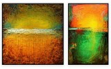 "Abstracts Vol 1 - 132: Set of 2 - 40"" x 40 "" each"