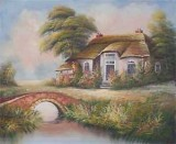 Garden Oil Painting 003